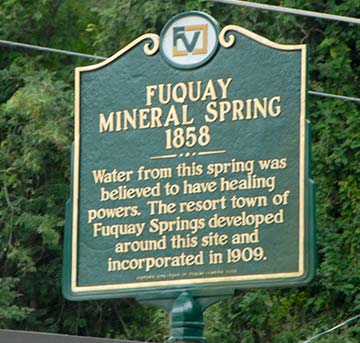 sign at fuquay-varina mineral springs