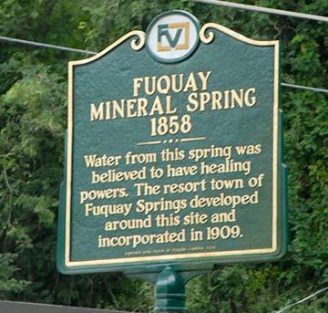 sign at fuquay-varina mineral springs