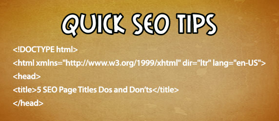 5 seo page titles dos and don'ts